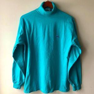Izod Lacoste Aqua Green Long Sleeve T-shirt Medium